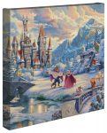 Beauty and the Beast's Winter Enchantment – 14″ x 14″ Gallery Wrapped Canvas