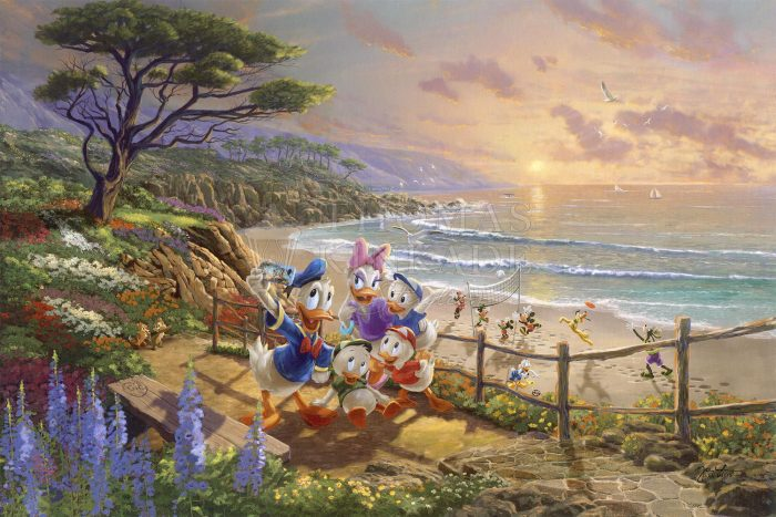Donald and Daisy – A Duck Day Afternoon – Limited Edition Canvas