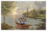 Mickey and Minnie Lighthouse Cove – Limited Edition Canvas