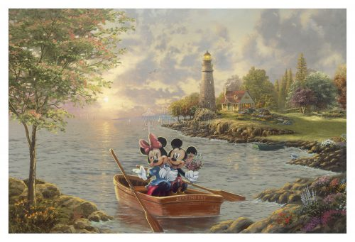 Mickey and Minnie Lighthouse Cove - Limited Edition Canvas