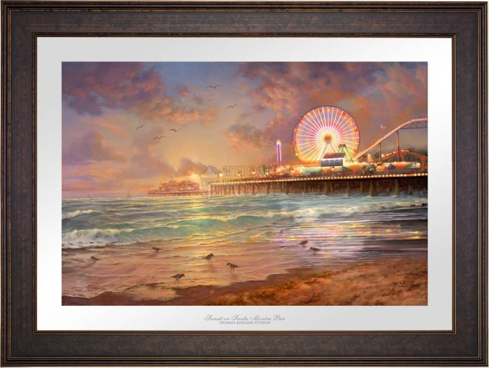 Sunset at Santa Monica Pier – Limited Edition Paper