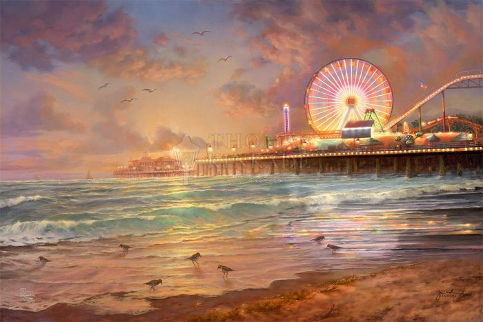 Sunset at Santa Monica Pier – Limited Edition Canvas