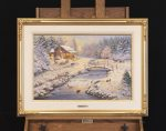*Original Study* A Winter Retreat Thomas Kinkade Studios 27″ x 18″