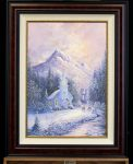 *Original Study* Deer Creek Chapel Thomas Kinkade Studios 20.5″x29.5″