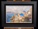 *Original Study* Greece Thomas Kinkade Studios 18″ x 27″