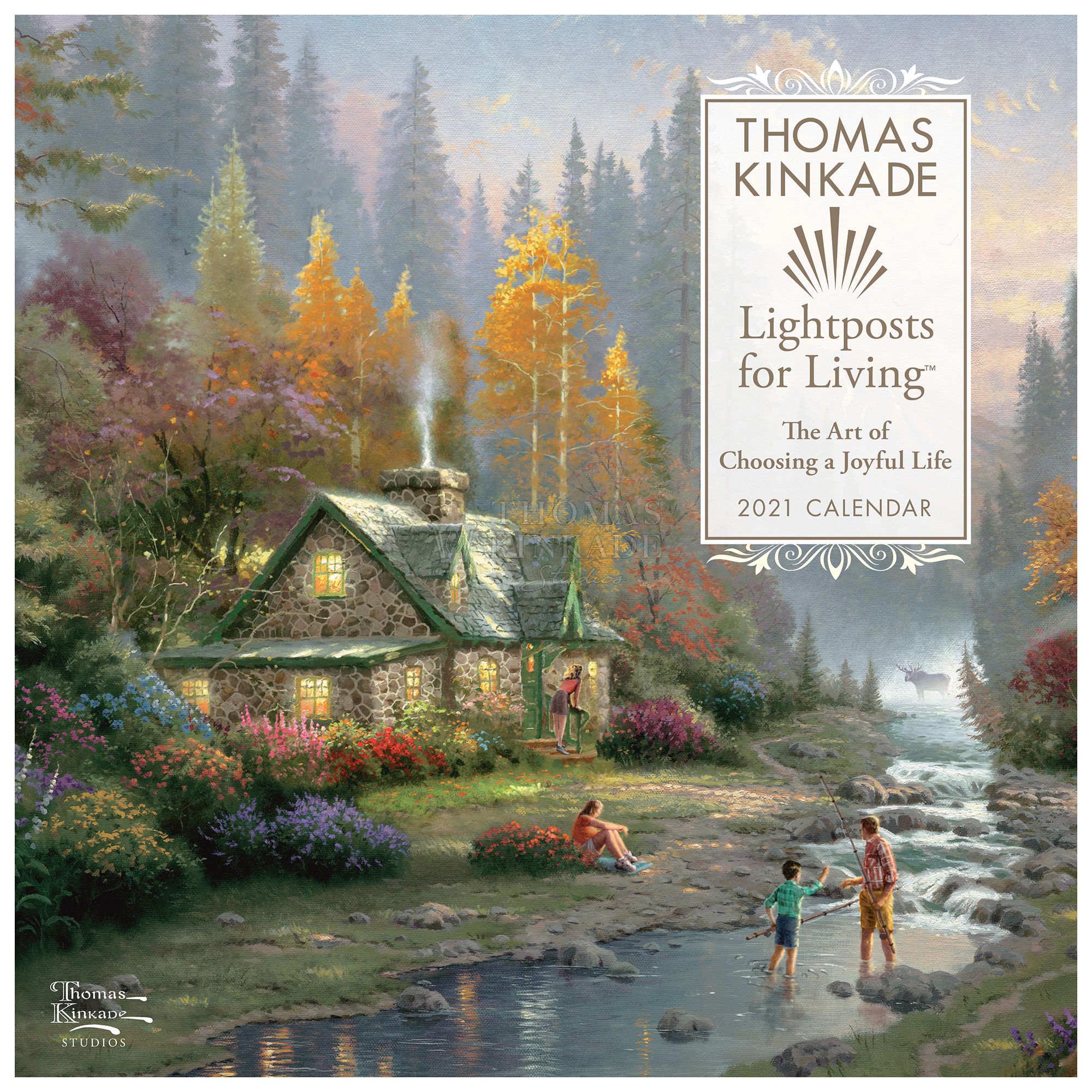 Thomas Kinkade Lightposts for Living 2021 Wall Calendar | Thomas