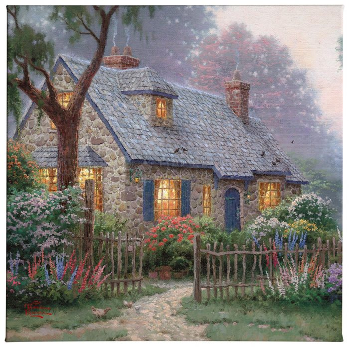 Foxglove Cottage – 20″x20″ Gallery Wrap Canvas