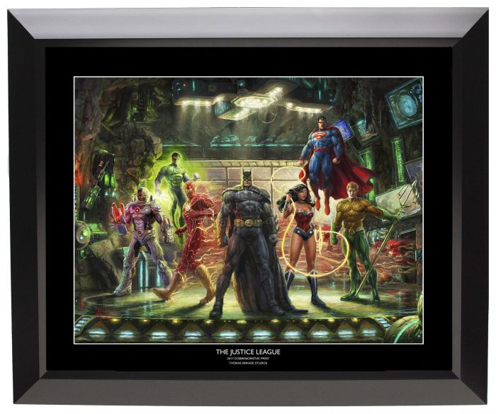 Justice League 19.5″ x 23.5″ Black Framed Print
