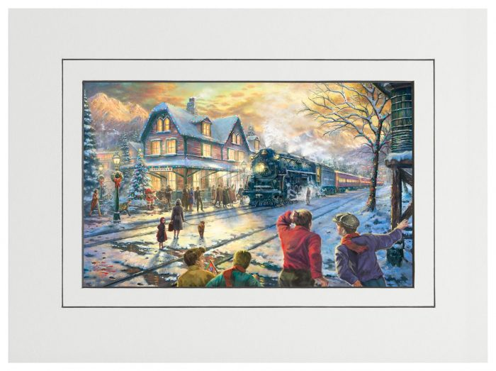 All Aboard for Christmas – 9″ x 12″ Matted Print