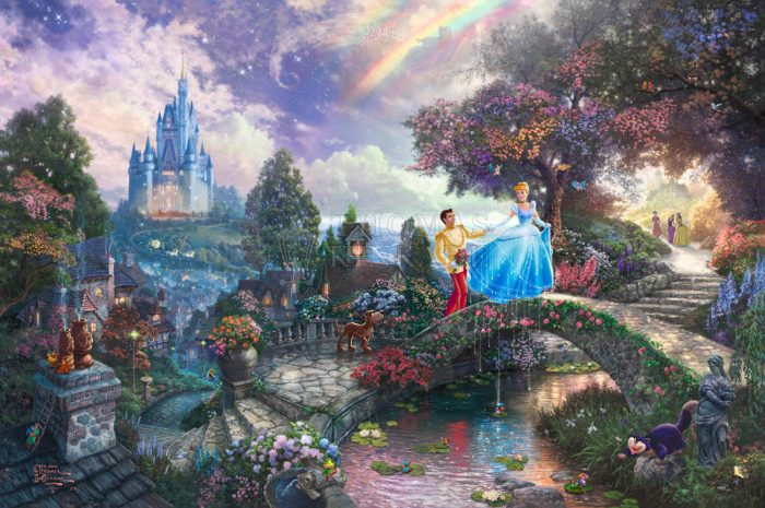 *RARE* Hand Signed, Cinderella Wishes Upon a Dream – Limited Edition Canvas, 12″ x 18″, AP, #78