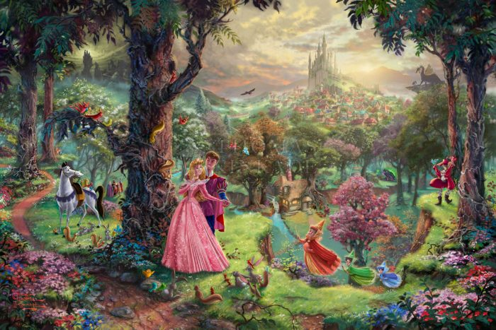 *RARE* Hand Signed, Sleeping Beauty – Limited Edition Canvas, 12″ x 18″, AP, #78