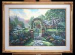 *Original Study* Hummingbird Cottage Thomas Kinkade Studios 36″ x 24″