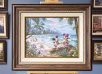 *RARE* Mickey and Minnie in Hawaii – Limited Edition Canvas, 18″ x 24″, EE, #4