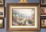 *RARE* Mickey and Minnie – Sweetheart Bridge – Limited Edition Canvas, 18″ x 24″, SN, #91