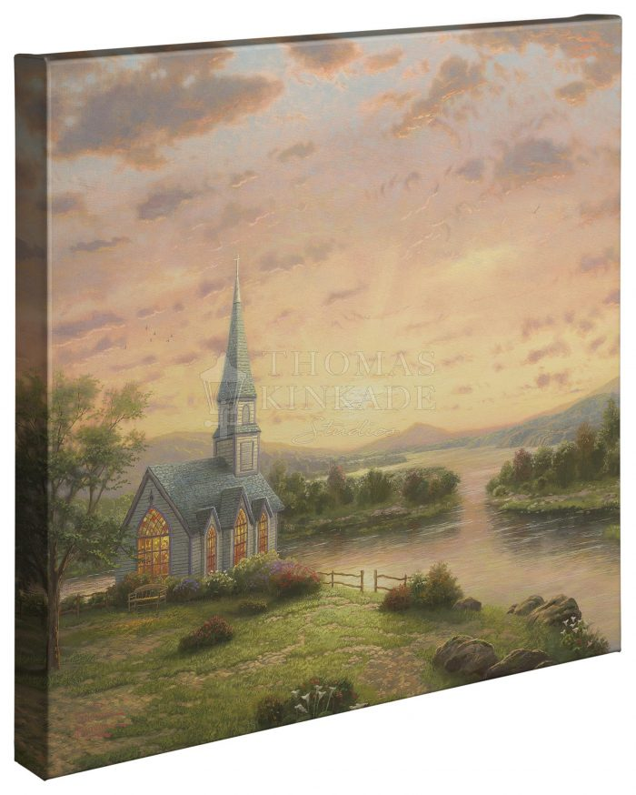 Sunrise Chapel – 20″ x 20″ Gallery Wrapped Canvas