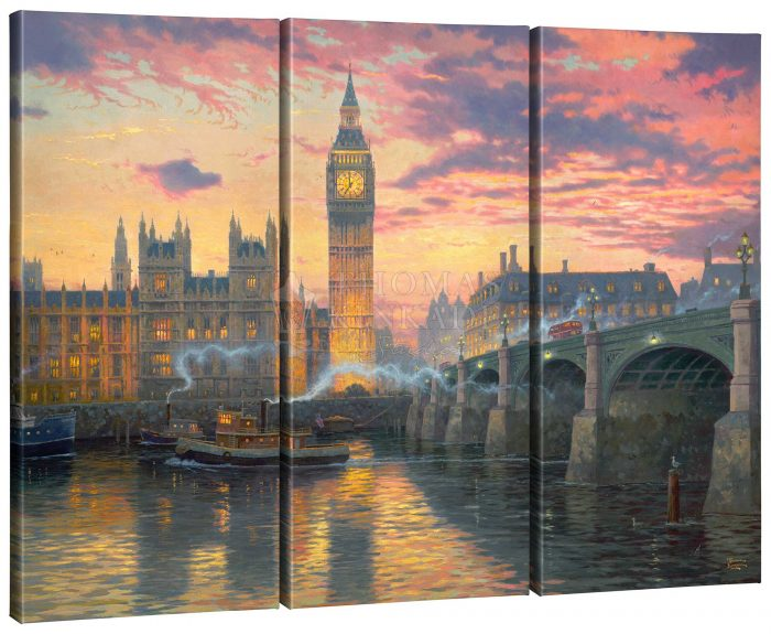 London – 36″ x 48″ (Set of 3) Triptych Giclee Canvas