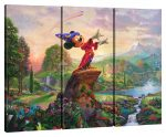 Fantasia – 36″ x 48″ (Set of 3) Triptych Giclee Canvas