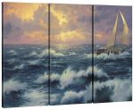 Perseverance – 36″ x 48″ (Set of 3) Triptych Giclee Canvas