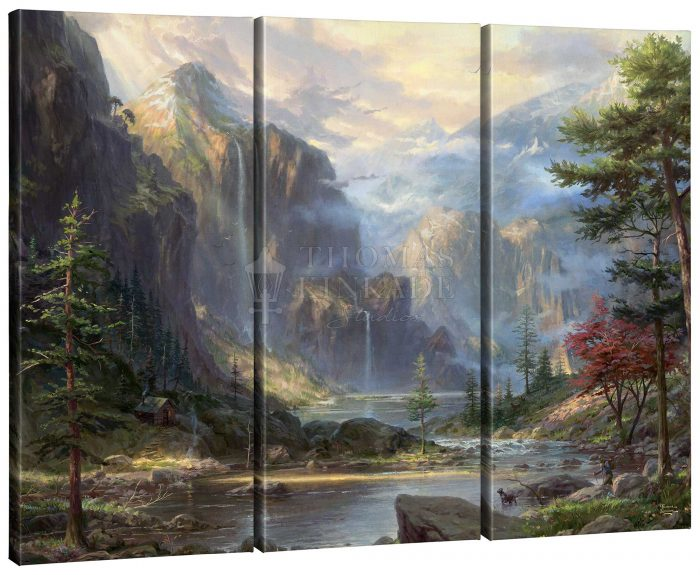 High Country Wilderness – 36″ x 48″ (Set of 3) Triptych Giclee Canvas
