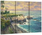 La Jolla Cove Triptych – 36″ x 48″ (Set of 3) Triptych Giclee Canvas