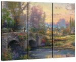 Cobblestone Evening – 36″ x 48″ (Set of 3) Triptych Giclee Canvas