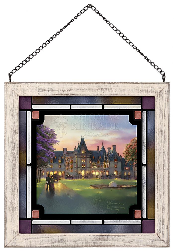 Elegant Evening at Biltmore – 9″ x 9″ Stained Glass Art