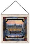 Christmas at Biltmore – 9″ x 9″ Stained Glass Art