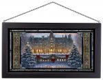 Christmas at Biltmore – 13″ x 23″ Stained Glass Art