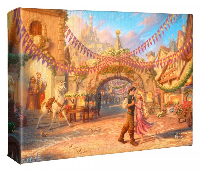 Rapunzel Dancing in the Sunlit Courtyard – 8″ X 10″ Gallery Wrapped Canvas
