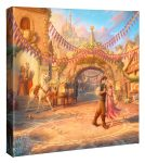 Rapunzel Dancing in the Sunlit Courtyard – 14″ X 14″ Gallery Wrapped Canvas