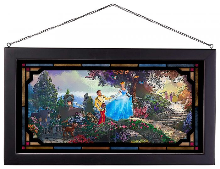Cinderella Wishes Upon a Dream – 13″ x 23″ Framed Glass Art