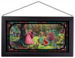 Sleeping Beauty – 13″ x 23″ Framed Glass Art