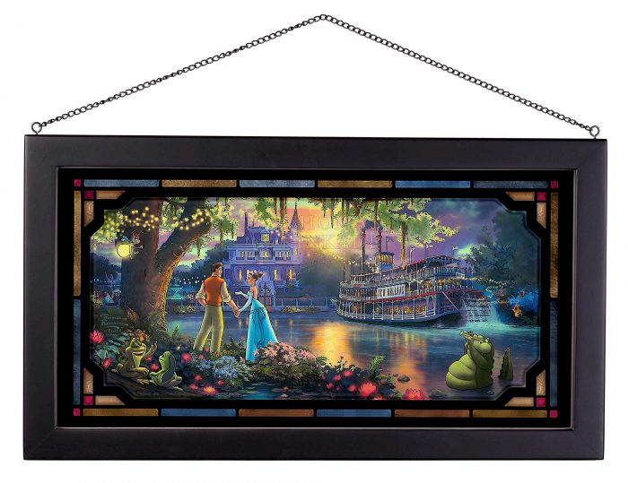 The Princess and the Frog – 13″ x 23″ Framed Glass Art