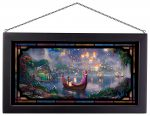 Tangled – 13″ x 23″ Framed Glass Art