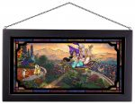 Aladdin – 13″ x 23″ Framed Glass Art
