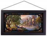 Beauty and the Beast II – 13″ x 23″ Framed Glass Art