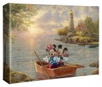 Disney – Mickey and Minnie Lighthouse Cove – 8″ X 10″ Gallery Wrapped Canvas