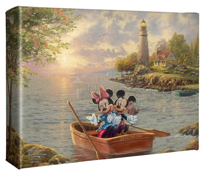 Mickey and Minnie Lighthouse Cove – 8″ X 10″ Gallery Wrapped Canvas