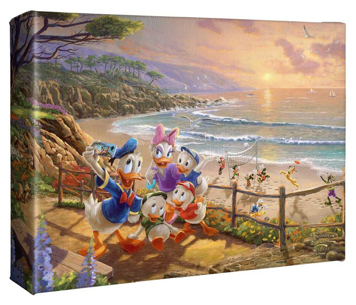 Donald and Daisy – 8″ X 10″ Gallery Wrapped Canvas