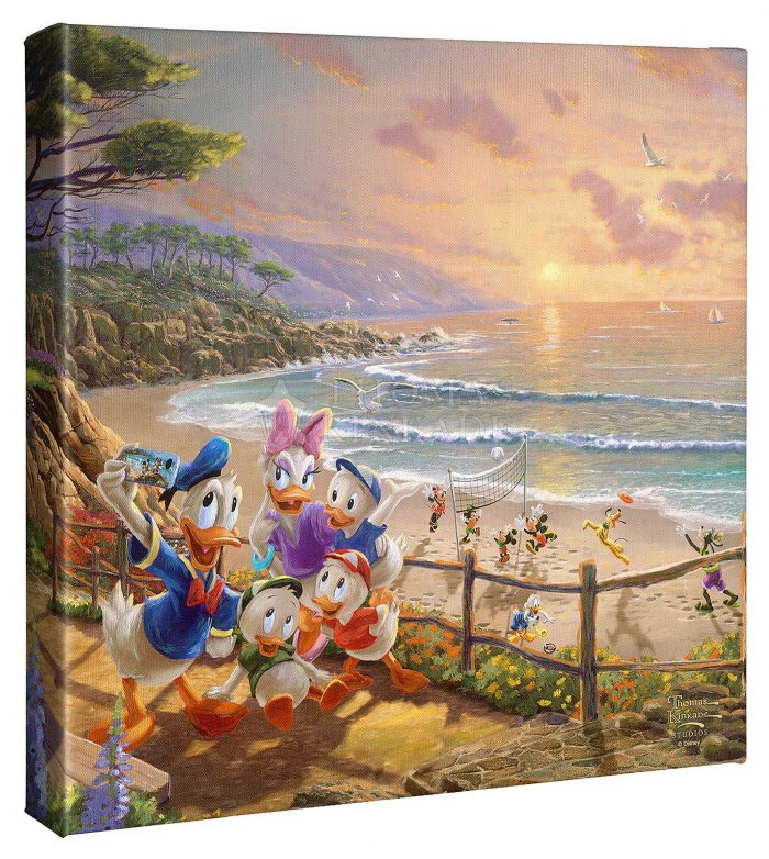 Donald and Daisy – A Duck Day Afternoon – 14″ X 14″ Gallery Wrapped Canvas