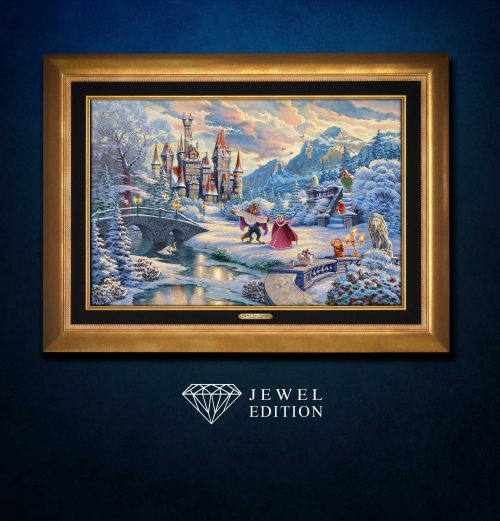Beauty and the Beast's Winter Enchantment - Jewel Edition Art