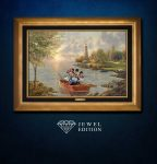 Mickey and Minnie Lighthouse Cove – Jewel Edition Art