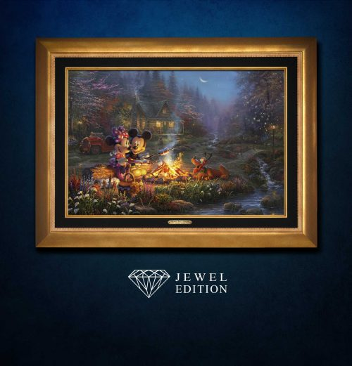Mickey and Minnie Sweetheart Campfire - Limited Edition Canvas