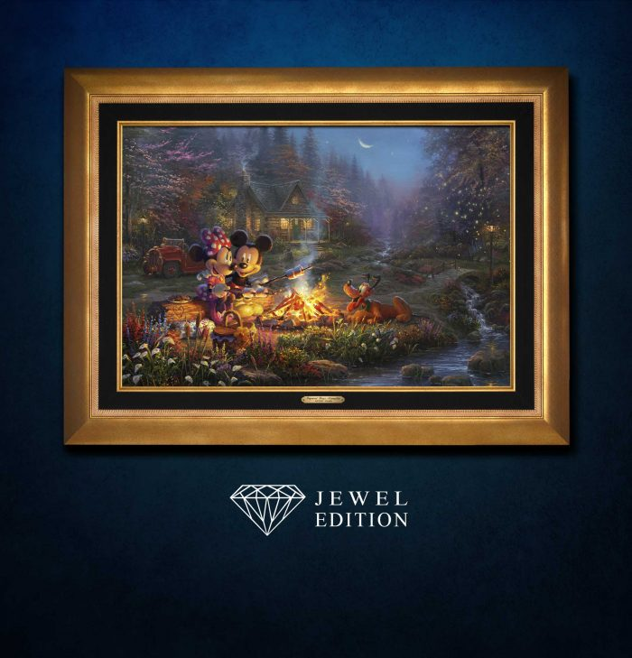 Mickey and Minnie – Sweetheart Campfire – Jewel Edition Art