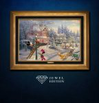 Mickey's Victorian Christmas – Jewel Edition Canvas