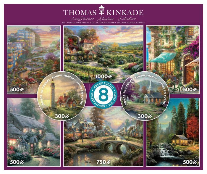 Traditional Kinkade 8-In-1 Multi Pack Puzzles
