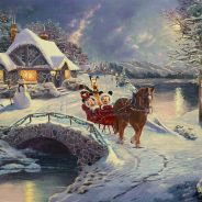 Mickey and Minnie Evening Sleigh Ride