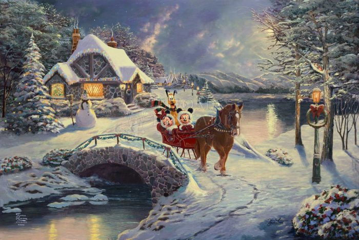 Mickey and Minnie Evening Sleigh Ride – Limited Edition Canvas