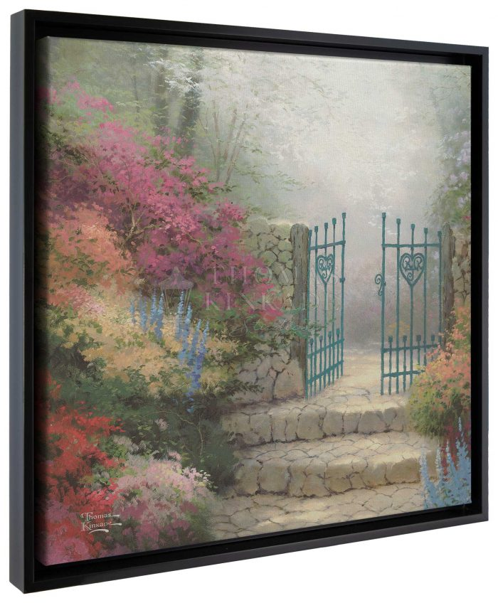 The Garden of Promise – 20″ x 20″ Gallery Wrapped Canvas (Onyx Black Frame)