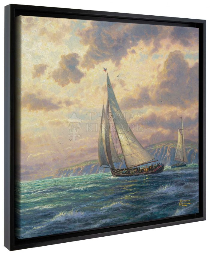 New Horizons – 20″ x 20″ Gallery Wrapped Canvas (Onyx Black Frame)